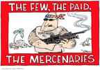 Cartoonist Signe Wilkinson  Signe Wilkinson's Editorial Cartoons 2007-10-12 machine gun