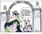 Cartoonist Signe Wilkinson  Signe Wilkinson's Editorial Cartoons 2007-11-15 educational standards