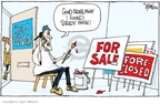 Cartoonist Signe Wilkinson  Signe Wilkinson's Editorial Cartoons 2008-03-04 real estate