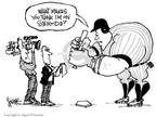 Cartoonist Signe Wilkinson  Signe Wilkinson's Editorial Cartoons 2003-11-17 baseball