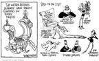 Cartoonist Signe Wilkinson  Signe Wilkinson's Editorial Cartoons 2002-12-12 $16