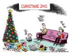 Cartoonist Mike Smith  Mike Smith's Editorial Cartoons 2012-12-25 Facebook