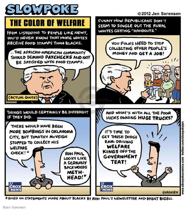 Cartoonist Jen Sorensen  Jen Sorensen's Editorial Cartoons 2012-01-01 racism