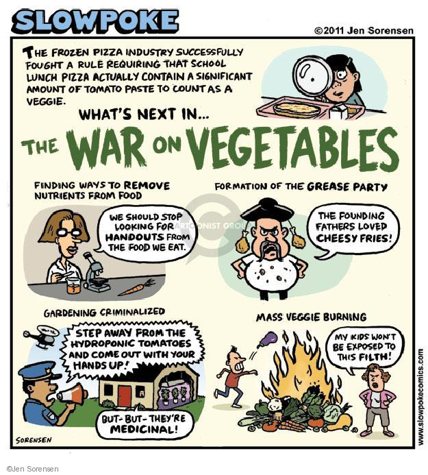 Cartoonist Jen Sorensen  Jen Sorensen's Editorial Cartoons 2011-11-21 eat
