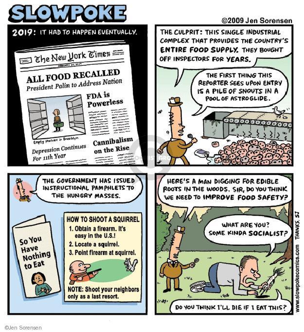 Cartoonist Jen Sorensen  Jen Sorensen's Editorial Cartoons 2009-01-01 squirrel