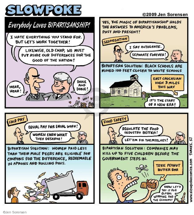 Cartoonist Jen Sorensen  Jen Sorensen's Editorial Cartoons 2009-01-01 bipartisan