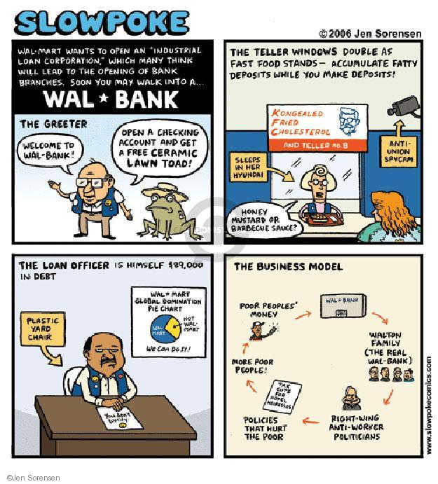 Cartoonist Jen Sorensen  Jen Sorensen's Editorial Cartoons 2006-01-01 bank account