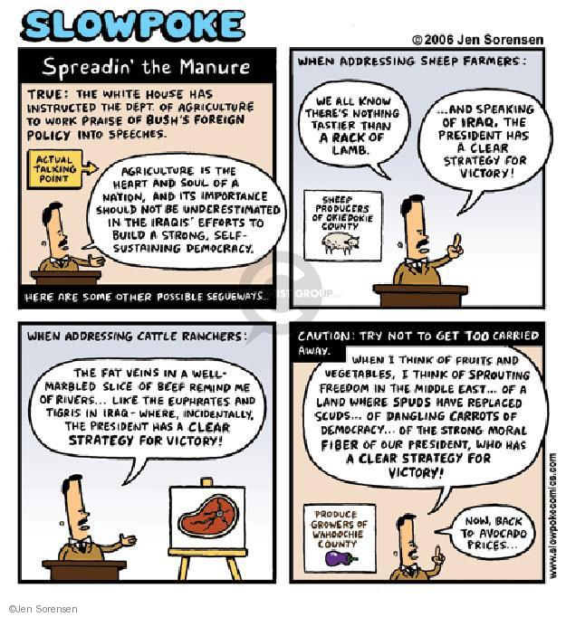 Cartoonist Jen Sorensen  Jen Sorensen's Editorial Cartoons 2006-01-01 food policy