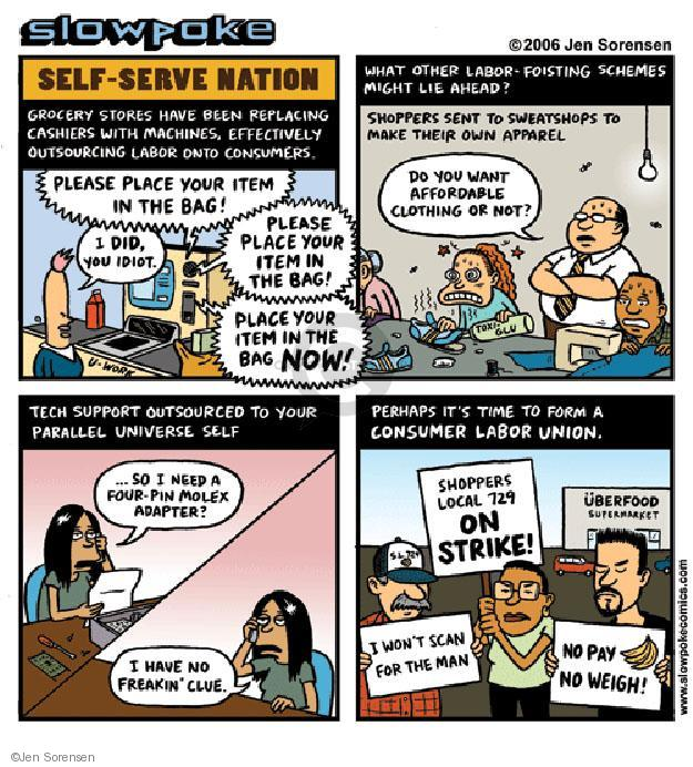 Jen Sorensen  Jen Sorensen's Editorial Cartoons 2006-01-01 working man