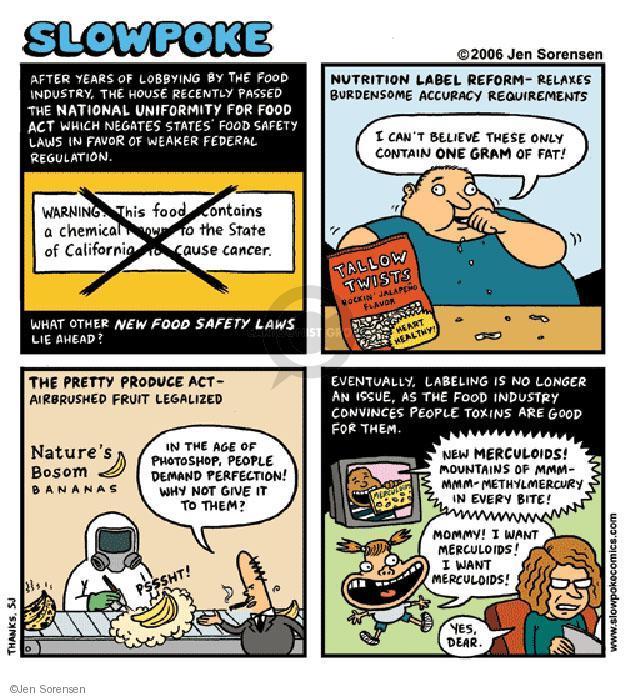 Cartoonist Jen Sorensen  Jen Sorensen's Editorial Cartoons 2006-01-01 healthy food