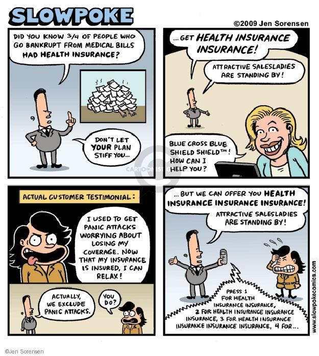 Cartoonist Jen Sorensen  Jen Sorensen's Editorial Cartoons 2009-01-01 insure