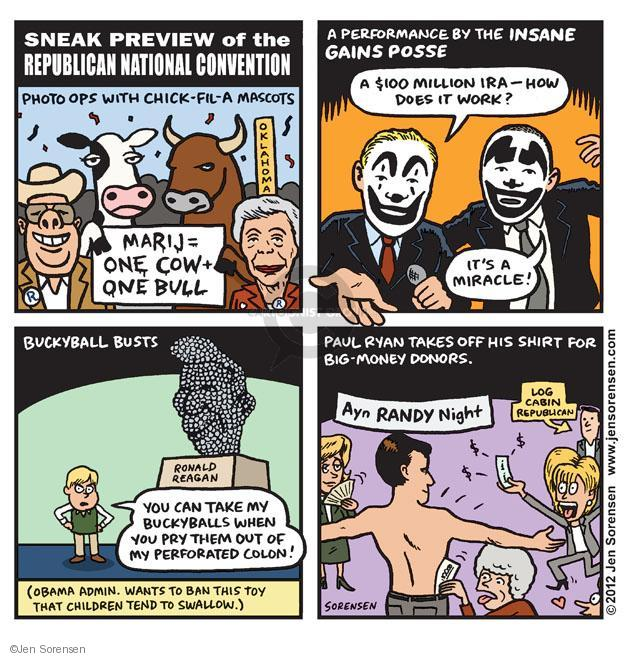 Cartoonist Jen Sorensen  Jen Sorensen's Editorial Cartoons 2012-08-20 presidential