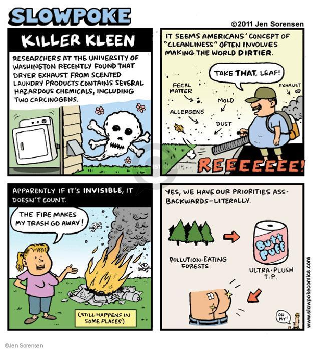Cartoonist Jen Sorensen  Jen Sorensen's Editorial Cartoons 2011-10-23 exhaust fume