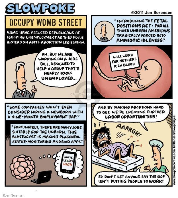 Cartoonist Jen Sorensen  Jen Sorensen's Editorial Cartoons 2011-11-12 unemployment