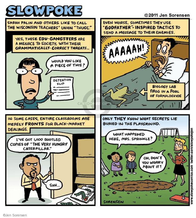 Cartoonist Jen Sorensen  Jen Sorensen's Editorial Cartoons 2011-09-12 Sarah
