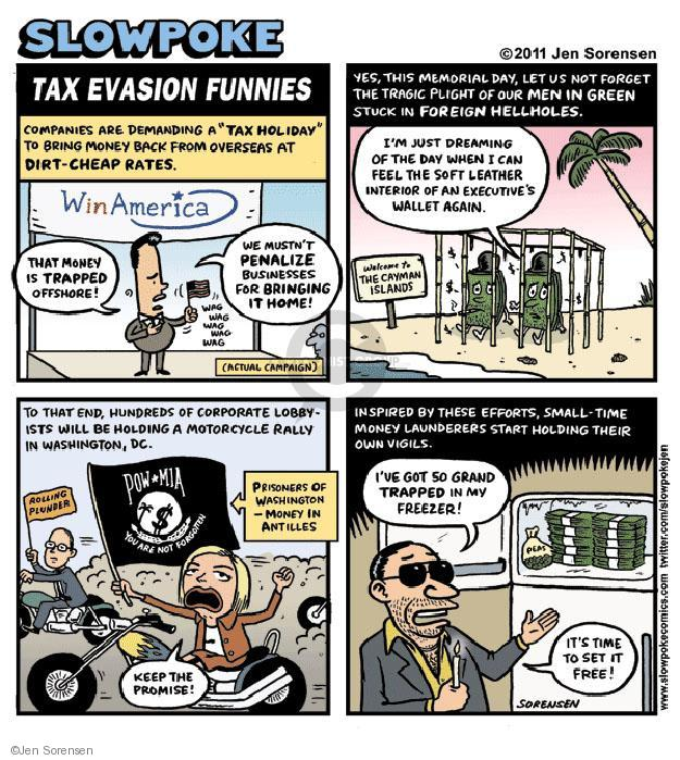 Jen Sorensen  Jen Sorensen's Editorial Cartoons 2011-07-23 small business tax