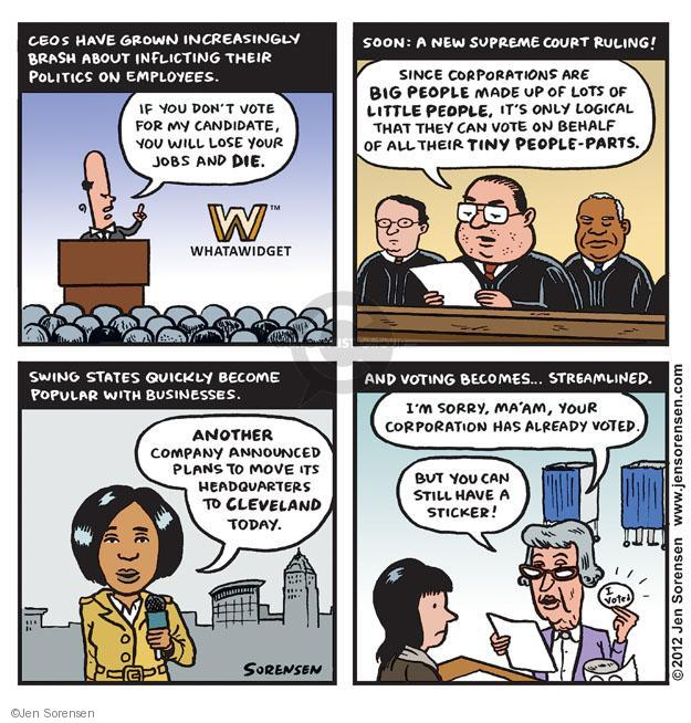Cartoonist Jen Sorensen  Jen Sorensen's Editorial Cartoons 2012-11-06 presidential