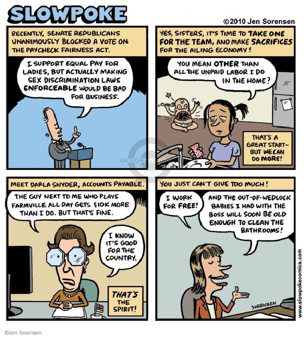 Cartoonist Jen Sorensen  Jen Sorensen's Editorial Cartoons 2010-11-22 give