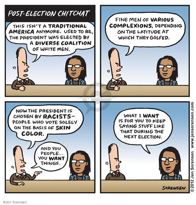 Cartoonist Jen Sorensen  Jen Sorensen's Editorial Cartoons 2012-11-13 racism