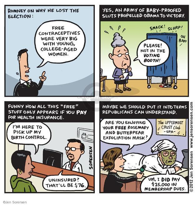 Cartoonist Jen Sorensen  Jen Sorensen's Editorial Cartoons 2012-11-20 Obama Romney