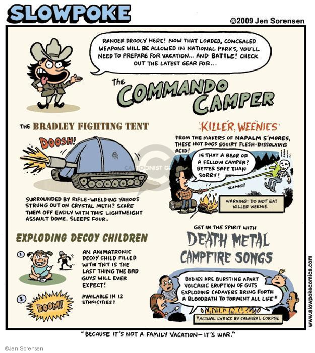 Cartoonist Jen Sorensen  Jen Sorensen's Editorial Cartoons 2009-06-15 camper