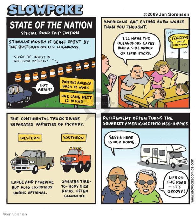 Cartoonist Jen Sorensen  Jen Sorensen's Editorial Cartoons 2009-07-13 highway