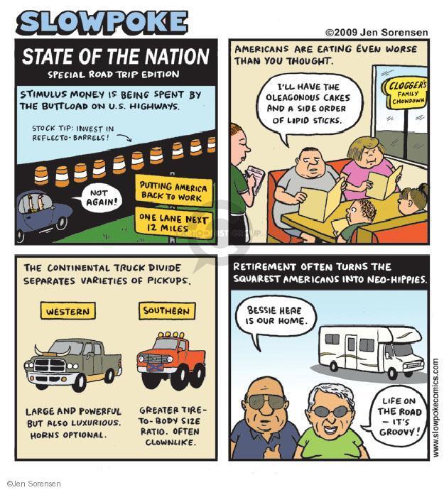 Cartoonist Jen Sorensen  Jen Sorensen's Editorial Cartoons 2009-07-13 highway of life