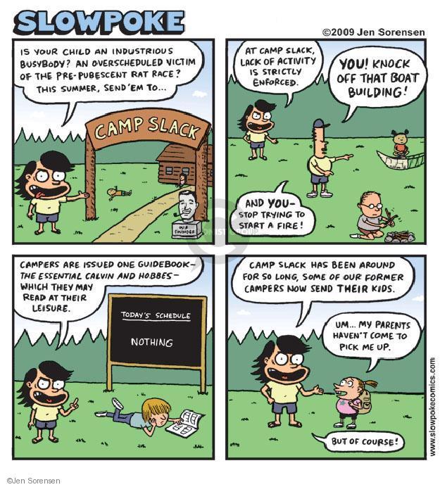 Cartoonist Jen Sorensen  Jen Sorensen's Editorial Cartoons 2009-07-20 camper