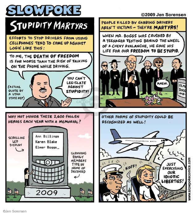 Jen Sorensen  Jen Sorensen's Editorial Cartoons 2009-08-17 stupid