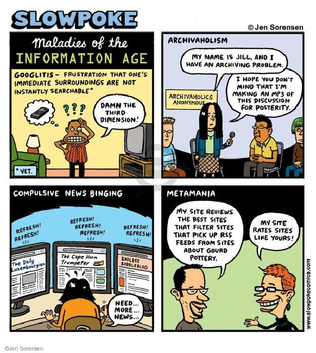 Cartoonist Jen Sorensen  Jen Sorensen's Editorial Cartoons 2009-04-20 online news