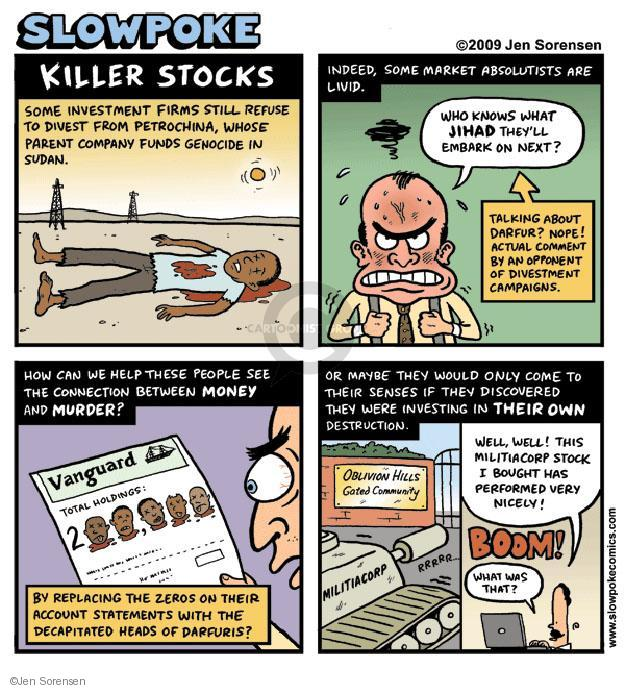 Jen Sorensen  Jen Sorensen's Editorial Cartoons 2009-05-25 stock market