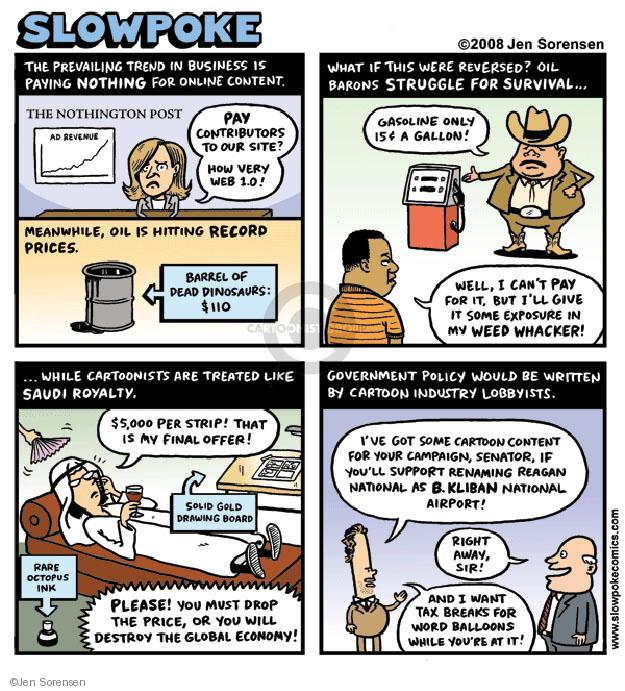 Cartoonist Jen Sorensen  Jen Sorensen's Editorial Cartoons 2008-05-12 economic policy