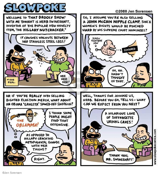 Cartoonist Jen Sorensen  Jen Sorensen's Editorial Cartoons 2008-05-26 2008 election