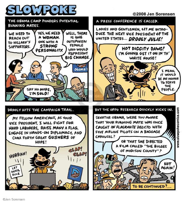 Cartoonist Jen Sorensen  Jen Sorensen's Editorial Cartoons 2008-07-14 political scandal