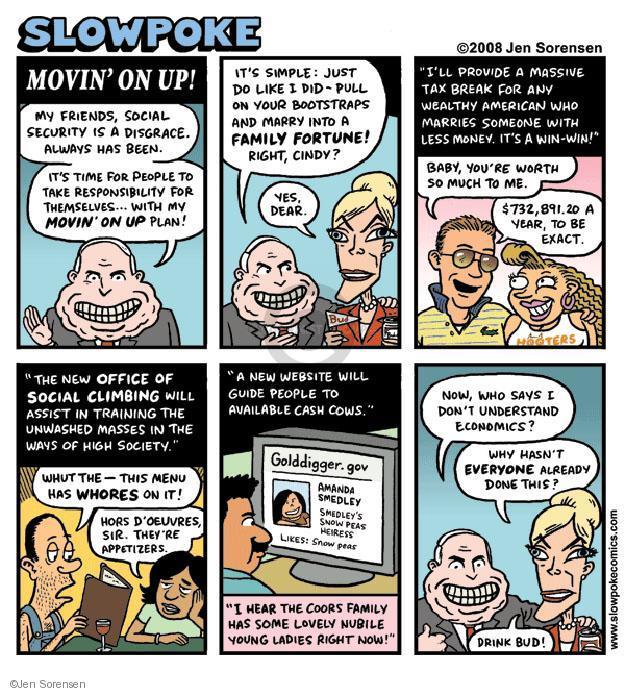 Cartoonist Jen Sorensen  Jen Sorensen's Editorial Cartoons 2008-08-25 social security