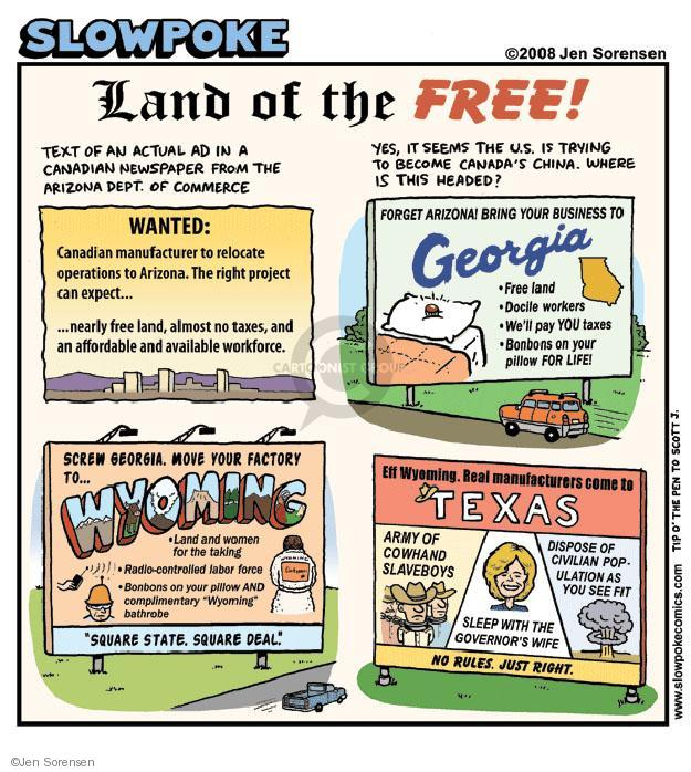 Cartoonist Jen Sorensen  Jen Sorensen's Editorial Cartoons 2008-09-08 Texas governor