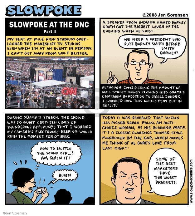 Cartoonist Jen Sorensen  Jen Sorensen's Editorial Cartoons 2008-10-06 Sarah