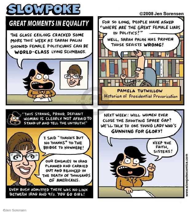 Cartoonist Jen Sorensen  Jen Sorensen's Editorial Cartoons 2008-10-20 Sarah