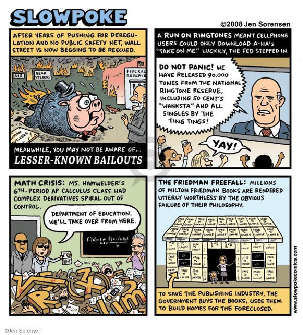 Cartoonist Jen Sorensen  Jen Sorensen's Editorial Cartoons 2008-10-27 safety net