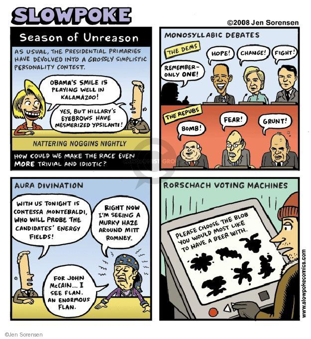 Cartoonist Jen Sorensen  Jen Sorensen's Editorial Cartoons 2008-01-01 contest will