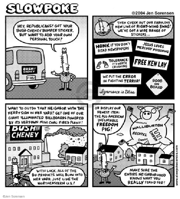 Cartoonist Jen Sorensen  Jen Sorensen's Editorial Cartoons 2004-01-01 lay