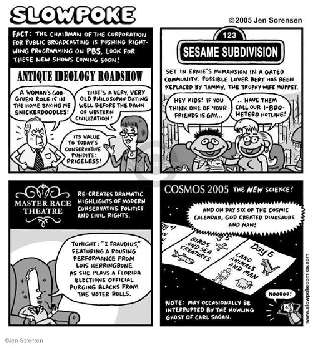 Cartoonist Jen Sorensen  Jen Sorensen's Editorial Cartoons 2005-01-01 channel