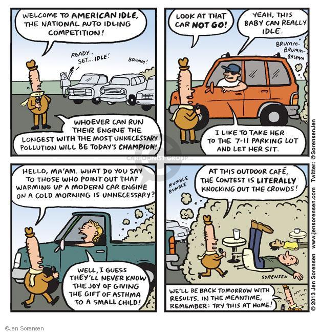 Cartoonist Jen Sorensen  Jen Sorensen's Editorial Cartoons 2013-02-25 exhaust fume