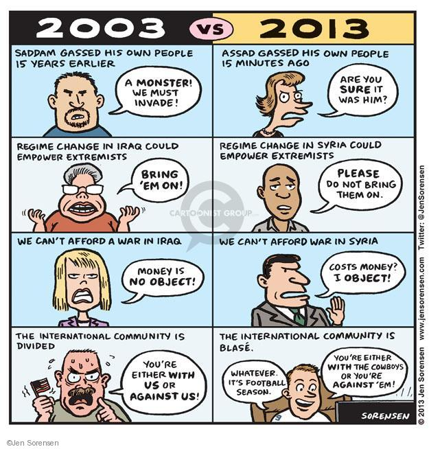 Cartoonist Jen Sorensen  Jen Sorensen's Editorial Cartoons 2013-09-09 warfare