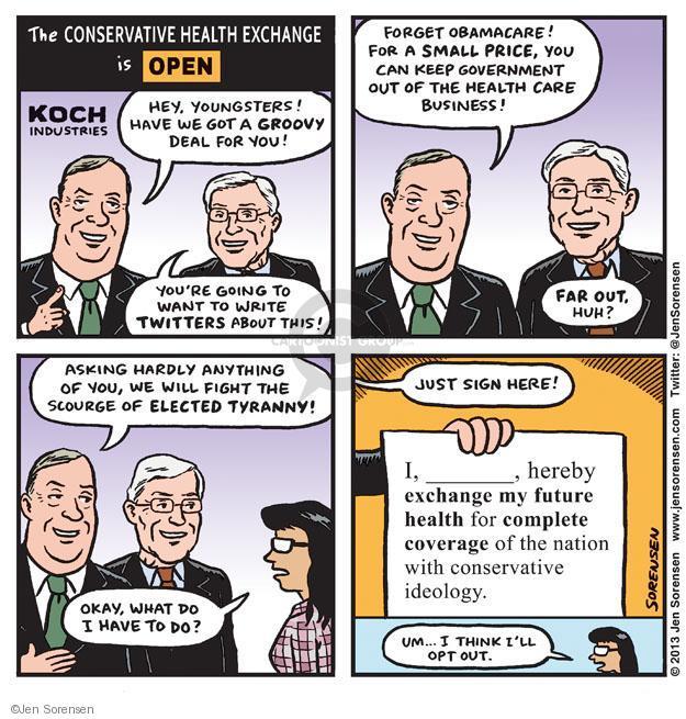 Jen Sorensen  Jen Sorensen's Editorial Cartoons 2013-09-29 Obamacare
