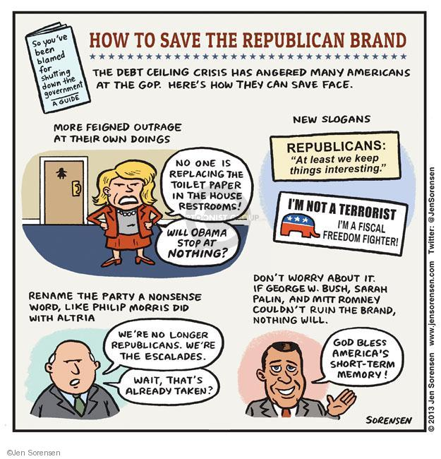 Cartoonist Jen Sorensen  Jen Sorensen's Editorial Cartoons 2013-10-07 Bush term
