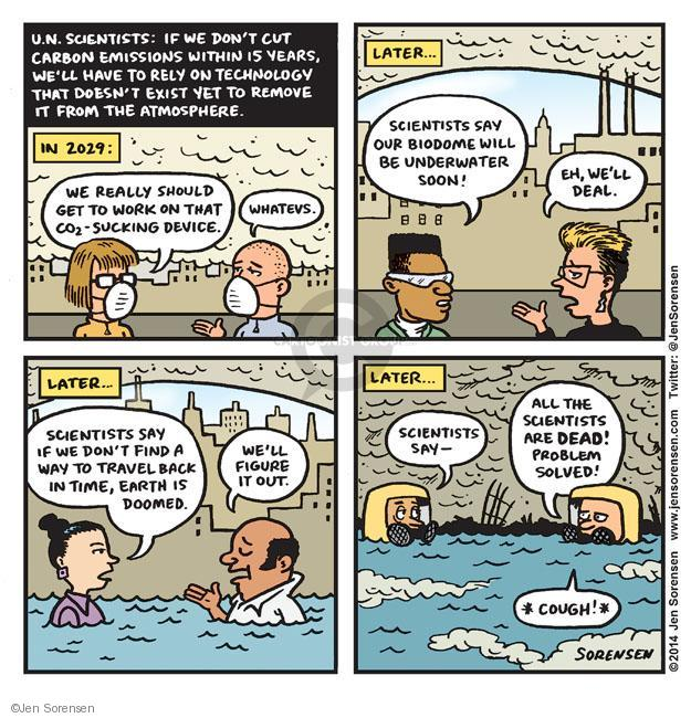 Jen Sorensen  Jen Sorensen's Editorial Cartoons 2014-01-20 climate change science