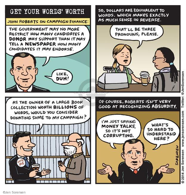 Cartoonist Jen Sorensen  Jen Sorensen's Editorial Cartoons 2014-04-07 judicial branch