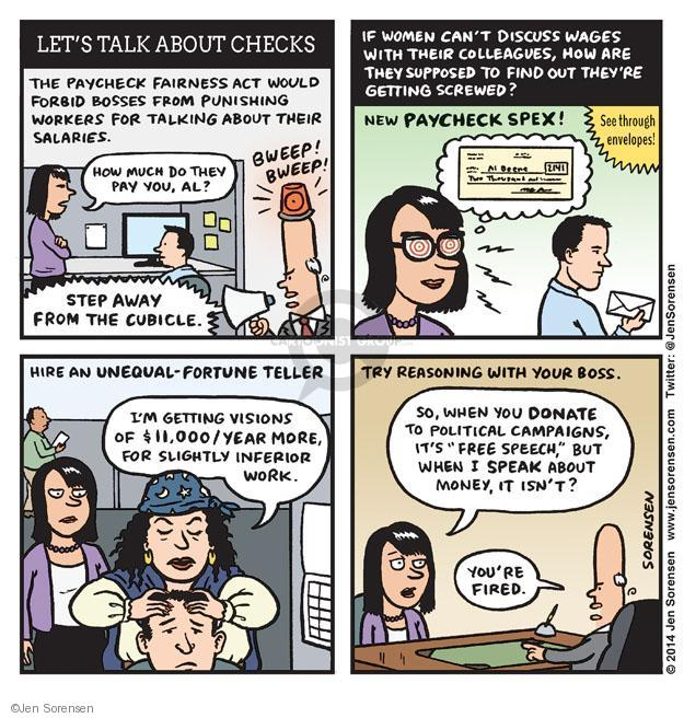 Cartoonist Jen Sorensen  Jen Sorensen's Editorial Cartoons 2014-04-21 women's issues
