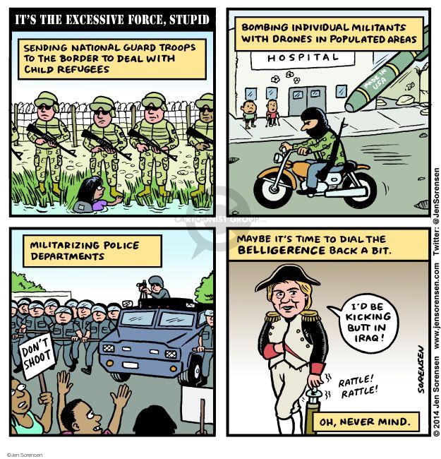 Cartoonist Jen Sorensen  Jen Sorensen's Editorial Cartoons 2014-08-19 bombing